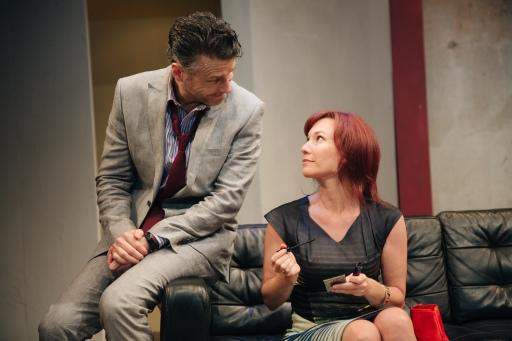 Contact.Com at Park Theatre. Jason Durr (Matthew), Tanya Franks (Naomi). Photo credit - Kim Hardy (3)